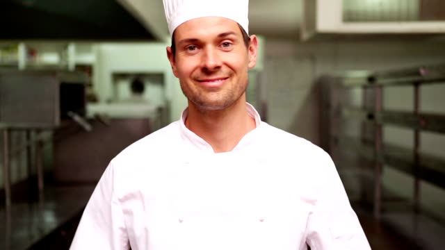 Chef smiling at camera