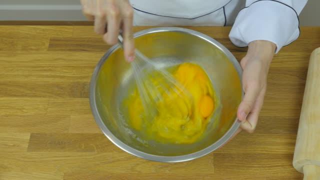 Chef's cracking eggs