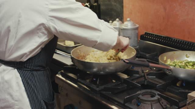 Chefs preparing dinner