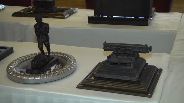 3 chefs produce antiques made from chocolate in Antalya Turkey on 24 October 2015 3 chefs produced radios gramophones and typewriters made from...