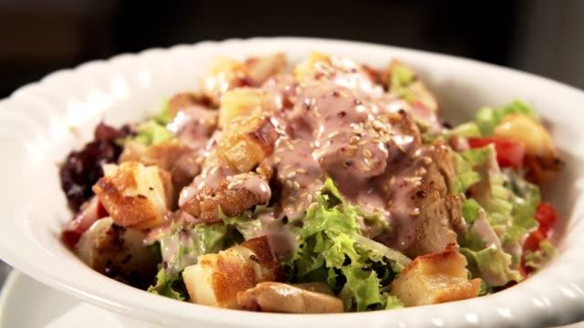 chef's salad - salad stock videos & royalty-free footage