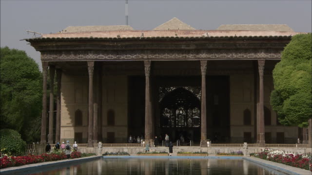 MS Chehel Sotoun pavilion with pool in foreground, Isfahan, Iran