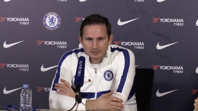 chelsea boss frank lampard has dismissed suggestions defender antonio rudiger is ready to return from injury after the player declared himself fit... - zugänglichkeit stock-videos und b-roll-filmmaterial