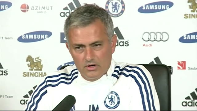 chelsea boss jose mourinho is without a win in three matches london stamford bridge int jose mourinho press conference sot did you tell them every... - スタンフォードブリッジ点の映像素材/bロール