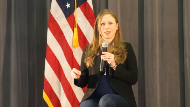 chelsea clinton makes an appearance at bates technical college - technical college stock videos & royalty-free footage