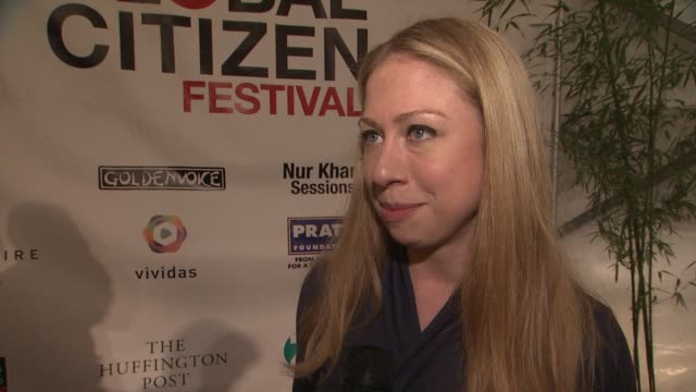 chelsea clinton on what it means to be a global citizen on optimism why he have so much to be optimistic about right now on the upcoming debates how... - great lawn stock videos and b-roll footage