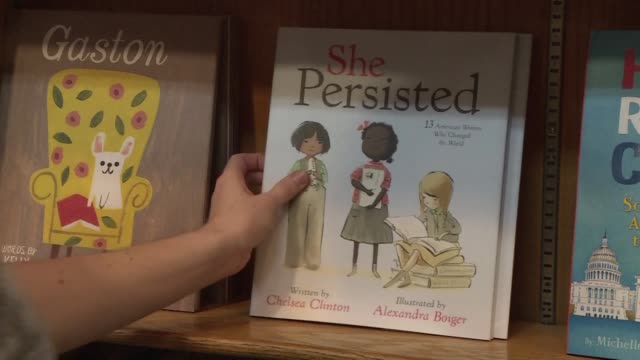 chelsea clinton's third book hits us stores a 28 page hardback picture book for children called she persisted about 13 diverse american women who... - hardcover book stock videos and b-roll footage