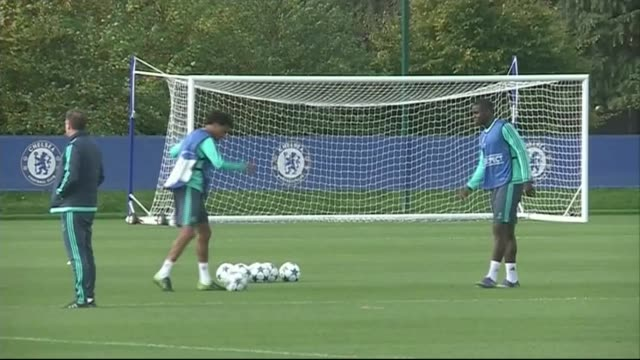 chelsea continue to struggle lib / 2892015 cobham various shots of chelsea training session end lib - cobham surrey stock videos and b-roll footage