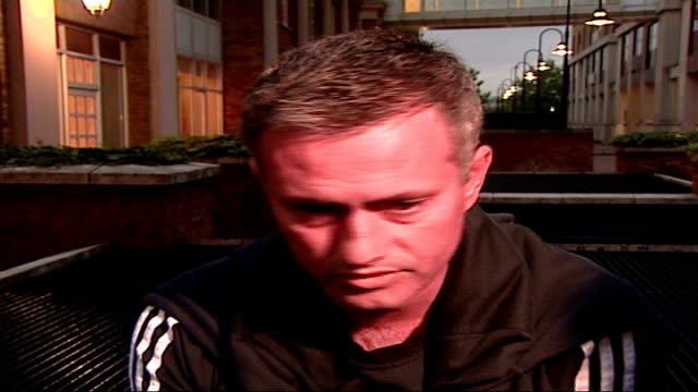 aftermath of jose mourinho replacement by avram grant jose mourinho speaking to press sot never ending relationship with chelsea fans and players - chelsea f.c stock videos & royalty-free footage
