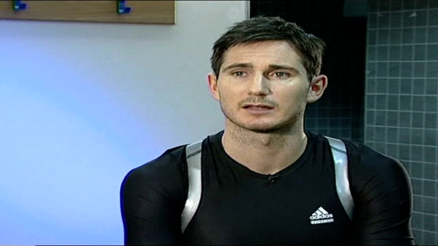 frank lampard on upcoming match with liverpool fc london stamford bridge int lampard interview sot talks about playing against gerrard - chelsea f.c stock videos & royalty-free footage