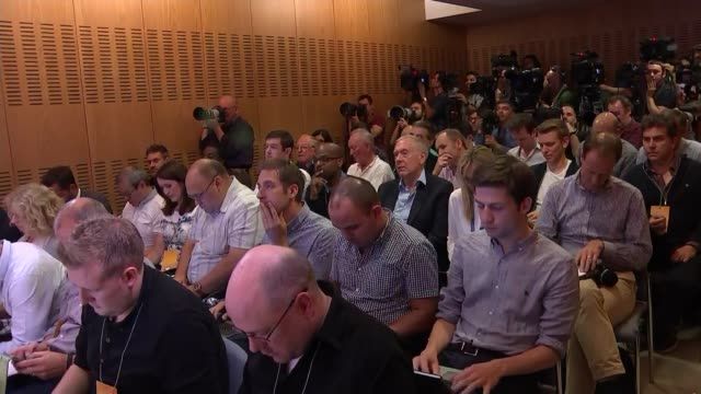 jose mourinho press conference cutaways england surrey cobham int jose mourinho into room and sitting for press conference/ cutaways of jose mourinho... - cobham training ground stock videos and b-roll footage