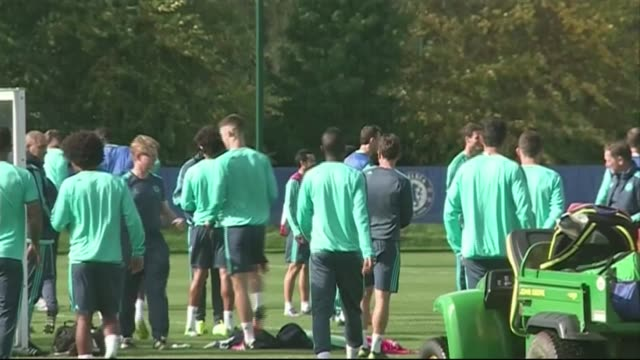 surrey cobham ext various of chelsea fc players training - cobham training ground stock videos and b-roll footage