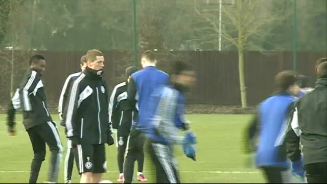 surrey cobham ext general views of chelsea training session including frank lampard john terry ashley cole / rafael benitez looking on in background - cobham surrey stock videos and b-roll footage