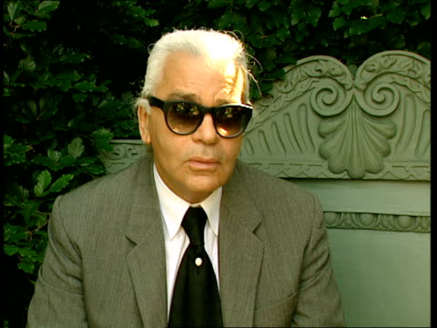 Karl Lagerfeld interview B0411995 ENGLAND London Chelsea Flower Show Karl Lagerfeld interview SOT General views of Angel of North at Chelsea flower...