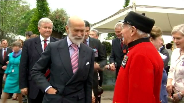 queen elizabeth has private tour england london chelsea royal hospital ext prince andrew the duke of york arriving to visit the chelsea flower show... - princess michael of kent stock videos and b-roll footage
