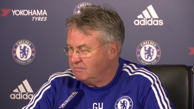guus hiddink plays down training ground clash between oscar and diego costa england surrey cobham int guus hiddink press conference sot with intense... - cobham surrey stock videos and b-roll footage