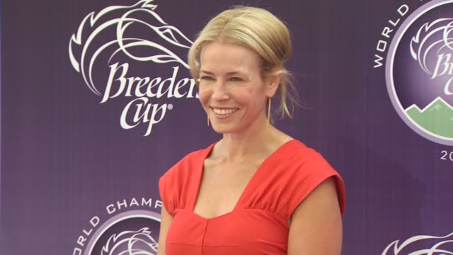 chelsea handler at the breeders' cup world thoroughbred championships at arcadia ca - championships stock videos & royalty-free footage