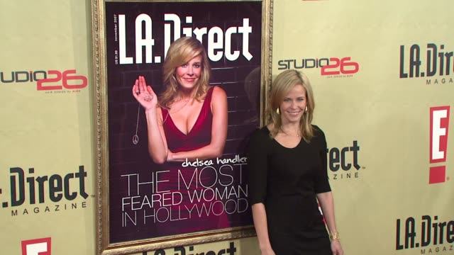 Chelsea Handler at the LA Direct Magazine's Holiday Party at Les Deux in Los Angeles California on December 14 2007