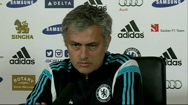 jose mourinho press conference england surrey cobham int jose mourinho press conference sot the people that was out of the champions league last... - cobham surrey stock videos and b-roll footage