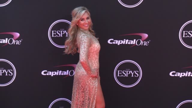 vídeos de stock, filmes e b-roll de chelsea lynn pezzola at the 2017 espys in los angeles ca - espy awards