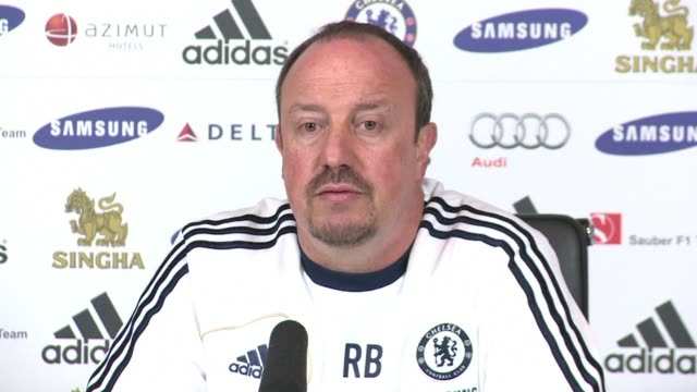 chelsea manager rafael benitez has warned manchester city that his players have set their sights on climbing above the champions in the premier... - cobham training ground stock videos and b-roll footage