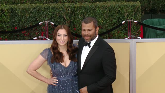 Chelsea Peretti and Jordan Peele at the 24th Annual Screen Actors Guild Awards at The Shrine Auditorium on January 21 2018 in Los Angeles California