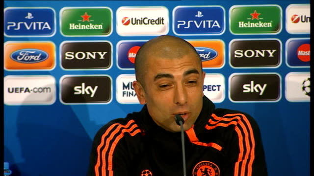 Chelsea prepare for Champions League Final against Bayern Munich Roberto Di Matteo press conference SOT It's going to be difficult to win because...