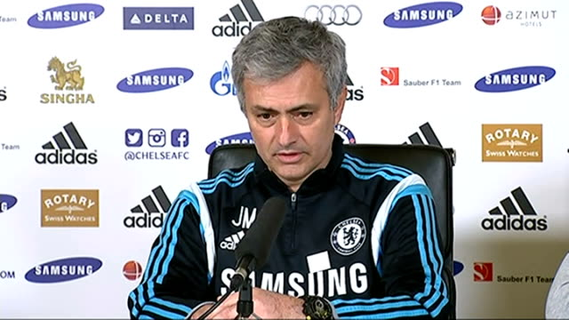 jose mourinho says club is ashamed / fans suspended from matches england surrey cobham mourinho press conference sot [on supporting a campaign to pay... - cobham surrey stock videos and b-roll footage