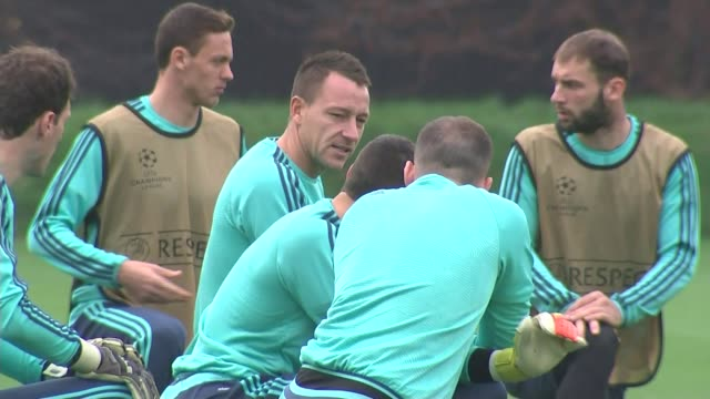 chelsea sack manager jose mourinho t04111521 cobham chelsea training session including john terry end lib - cobham surrey stock videos and b-roll footage