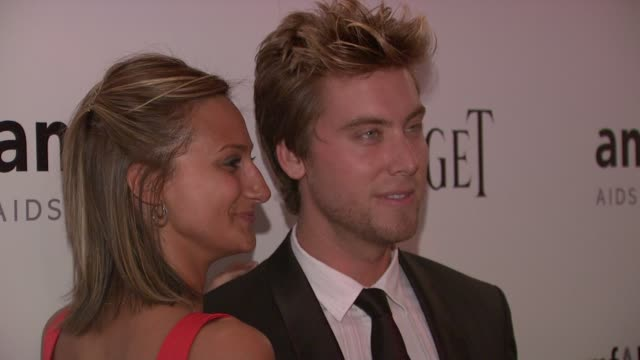 chelsea smith and lance bass at the 2010 amfar new york inspiration gala at new york ny - lance bass stock videos and b-roll footage