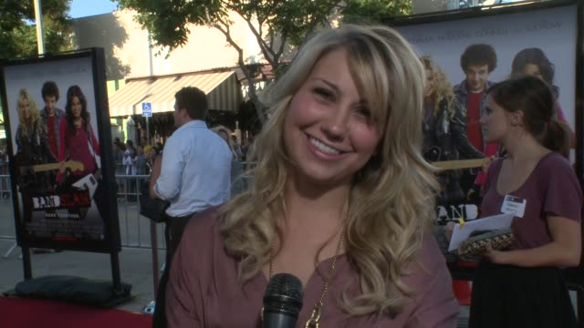 Chelsea Staub on what was a big deal in high school and how she had 3 bands in high school at the 'Bandslam' Premiere at Westwood Los Angeles CA