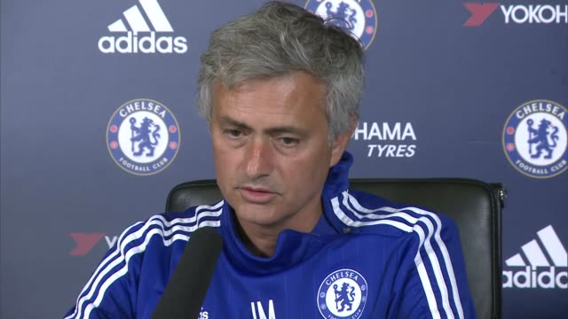 chelsea v crystal palace preview england surrey cobham int jose mourinho press conference sot we did a few things we did defend with nine men / i... - cobham surrey stock videos and b-roll footage