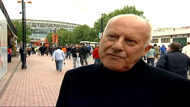 Chelsea win FA Cup final Man with placard 'It is time to seek the Lord' Sir Norman Foster interview SOT On what experience will be like when watching...