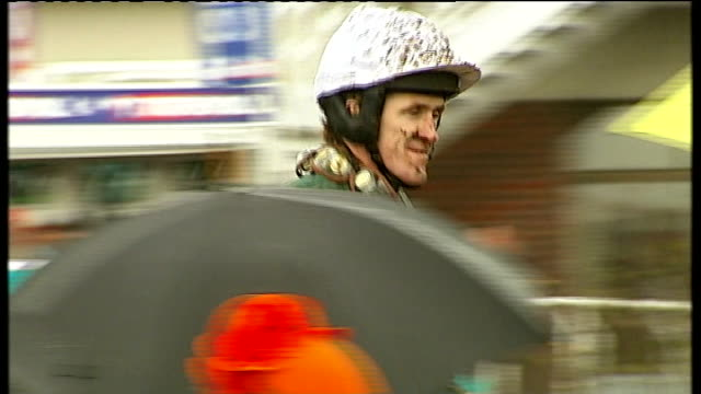bobs worth wins england gloucestershire cheltenham ext unidentified gold cup jockeys along on their mounts as returning to paddock at end of race... - gloucestershire stock videos and b-roll footage
