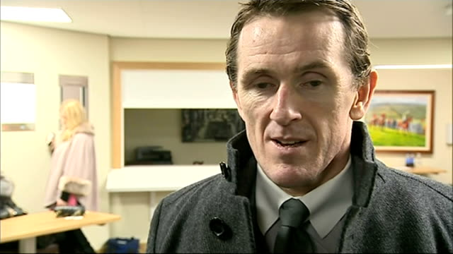 cheltenham gold cup won by novice coneygree int tony mccoy interview sot little bit emotional little bit sad that that was my last ever time riding... - horse bit stock videos and b-roll footage