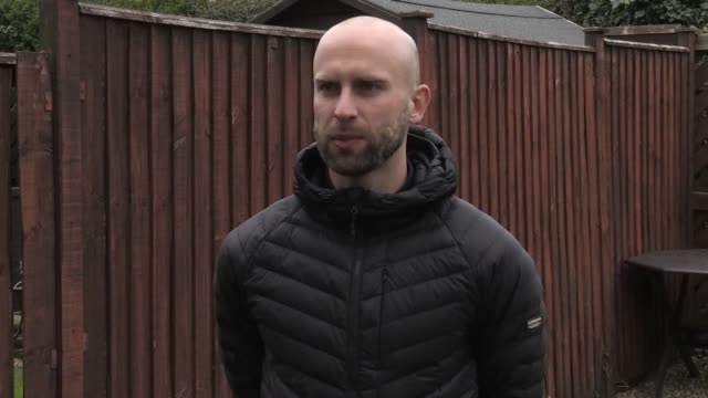 cheltenham man is celebrating his 32nd birthday by running a marathon in his back garden to raise funds for the nhs. james campbell, a former javelin... - cheltenham stock videos & royalty-free footage