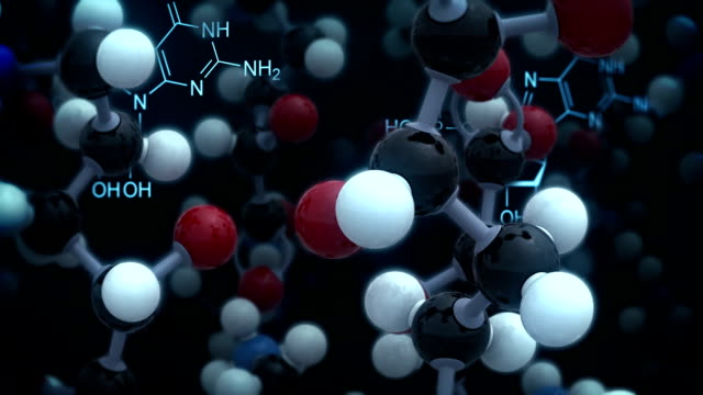 chemical background. black version. loop - biochemistry stock videos & royalty-free footage