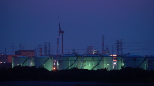 chemical factories at dusk in kamisu ibaraki prefecture japan on wednesday april 29 2020 - japan bloomberg stock videos & royalty-free footage