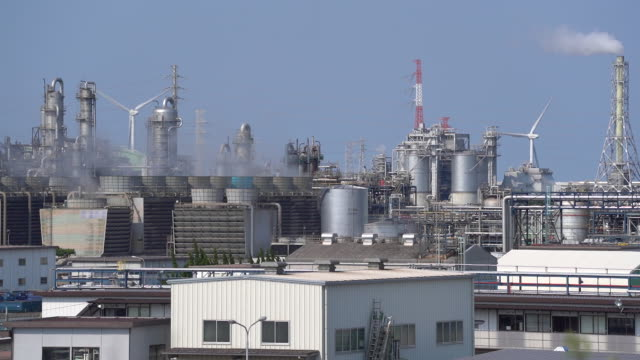 chemical factories in kamisu ibaraki prefecture japan on wednesday april 29 2020 - japan bloomberg stock videos & royalty-free footage