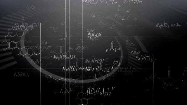 chemical formulas (black) - loop - chemistry stock videos & royalty-free footage