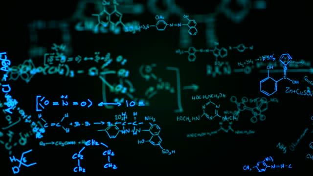 chemical formulas (green) - loop - science stock videos & royalty-free footage