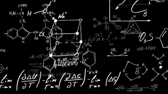 vidéos et rushes de des formules chimique - croquis