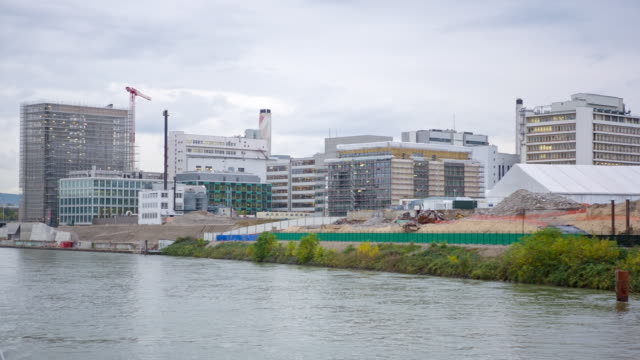 WS POV Chemical Industry from boat / Basel, Basel Stadt, Switzerland