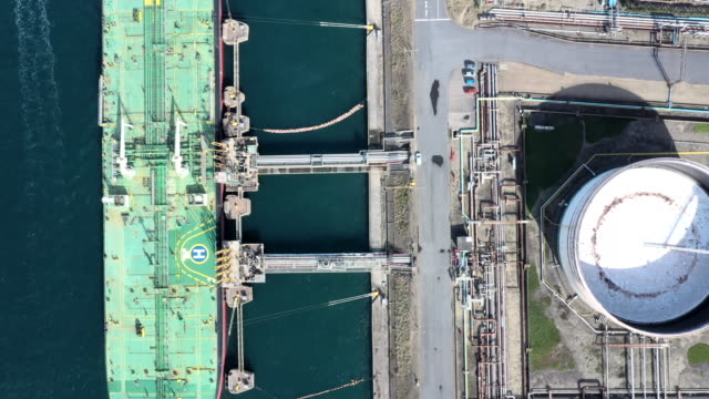 a chemical plant and huge tanker - tanker stock videos & royalty-free footage