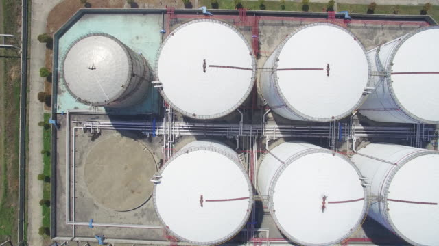 chemical plant - fuel storage tank stock videos and b-roll footage