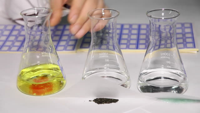 chemical reaction preparation - liyao xie stock videos & royalty-free footage