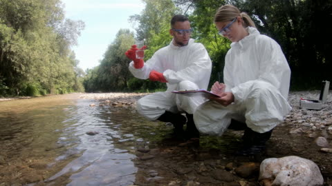 chemical test of water - scientific experiment stock videos & royalty-free footage