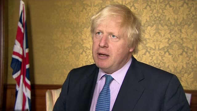 Chemical weapons watchdog confirms sarin was used in Khan Sheikhoun attack ENGLAND London INT Boris Johnson MP interview SOT I've got absolutely no...