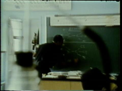 1972 cu zo ws chemistry classes in high school, teenagers in classroom, arlington, virginia, usa / audio - mathematics stock videos and b-roll footage