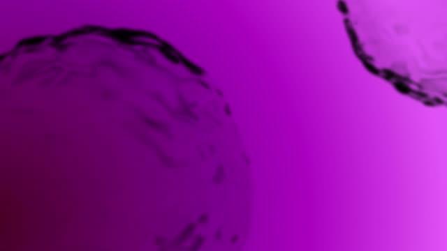 chemistry microscope loop purple - microscopio elettronico a scansione video stock e b–roll